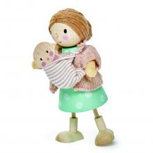בובות עץ - גברת גודווד ותינוק tender leaf toys