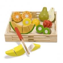 סט חיתוך פירות מעץ 17 חלקים  מליסה ודאג