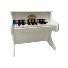 פסנתר מעץ לילדים לבן פנינה