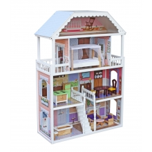 בית בובות 4 קומות - משי כולל אביזרים
