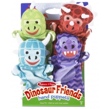 סט בובות יד דינוזאורים  מבית מליסה ודאג