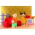 בית בובות מעץ לילדים פינק - Pink Leaf House