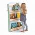 ספרייה מעוצבת מעץ 4 מדפים חיות היער