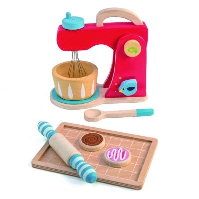 סט מיקסר ואפיה מעץ מלא 7 חלקים tender leaf toys