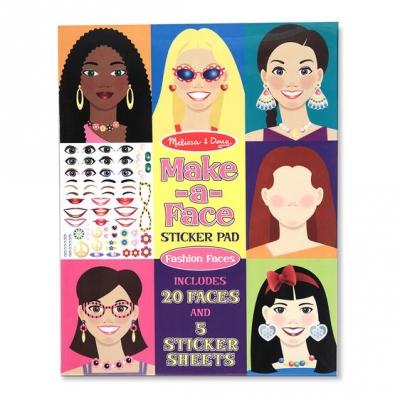 חוברת מדבקות עושים פרצופים מליסה ודאג