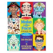 חוברת מדבקות רב פעמיות - פרצופים משוגעים מליסה ודאג