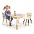 שולחן עץ כולל תא אחסון וכסאות טנדר לייף