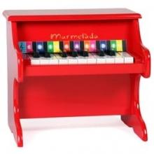 פסנתר מעץ לילדים אדום
