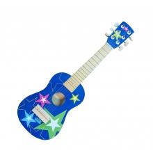 גיטרה כחולה כוכבים מעץ איכותי