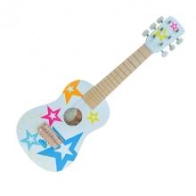 גיטרה לבנה כוכבים מעץ לילדים
