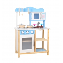 מטבח עץ לילדים כחול כולל אביזרים