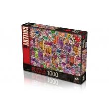 פאזל עיר הצבעים 1000 חל