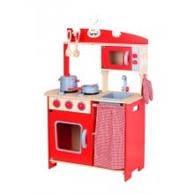 מטבח עץ לילדים אדום