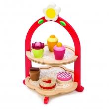 מעמד דו קומתי לעוגיות צעצוע מעץ מבית טנדר ליף tender leaf toys
