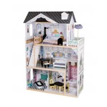 בית בובות מעץ דגם יובל עם מעלית ואביזרים