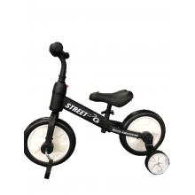 אופני איזון  2 ב 1 לבן שחור