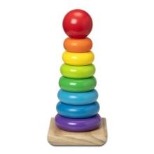 משחק מגדל טבעות עץ צבעוני ענק - מליסה ודאג