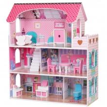 בית בובות לילדים - 3 קומות כולל 9 רהיטים
