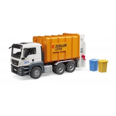 bruder- משאית זבל כתומה