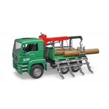 משאית מוביל עצים -bruder