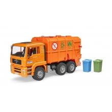 משאית זבל כתומה - bruder