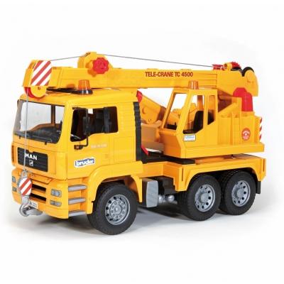 משאית מנוף צהובה  - bruder