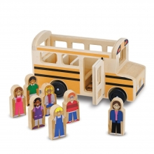 ערכת עץ אוטובוס בית ספר קלאסי מבית מליסה ודאג