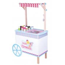 עגלת דוכן גלידה מעץ לילדים
