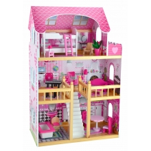 בית בובות מעץ 3 קומות עם תאורת לד