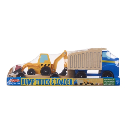 משאית אשפה וגרר מעץ 3 ב1 מבית מליסה ודאג