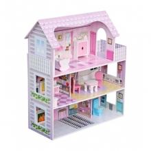 בית בובות נסיכות מעץ לילדים 3 קומות