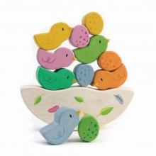 נדנדת איזון אפרוחים וביצים מעץ מלא לתינוקות - מבית טנדר ליף
