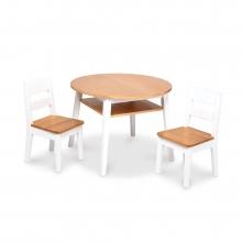 שולחן עץ עגול עם כיסאות לילדים - מליסה ודאג