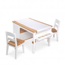 שולחן יצירה כולל שני כיסאות לציור - מליסה ודאג