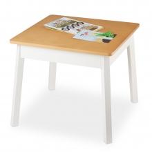 שולחן מרובע לילדים עץ טבעי ולבן - מליסה ודאג