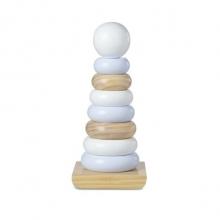 משחק מגדל טבעות עץ לבן כחול ואפור ענק - מליסה ודאג