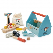 תיבת כלי עבודה מעץ 22 חלקים-tender leaf toys