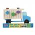 משאית אשפה התאם צורה מעץ 12 חלקים מליסה ודאג