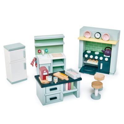 סט ריהוט מטבח לבית בובות tender leaf toys