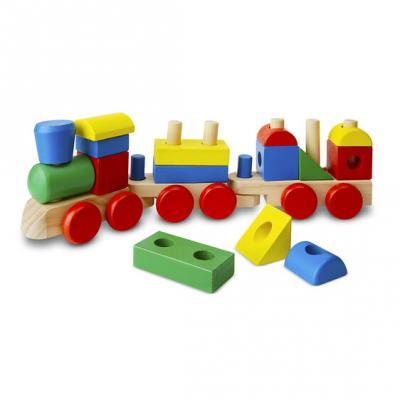 רכבת צורות עץ  15 חלקים צבעונית -מליסה ודאג