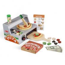 דוכן פיצה מעץ לילדים 34 חלקים מליסה ודאג