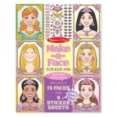 חוברת מדבקות נוצצות נסיכות  מליסה ודאג