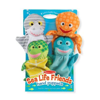 סט בובות יד חיות ים מבית מליסה ודאג