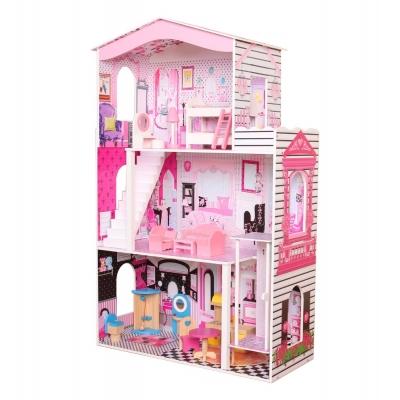 בית בובות  ענק מעץ עם מעלית